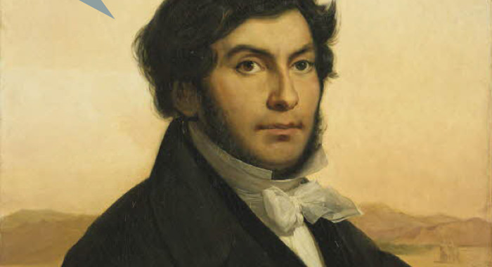 Léon Cogniet,  Portrait de Jean-François Champollion