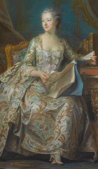 Maurice Quentin de La Tour, Portrait en pied de la marquise de Pompadour