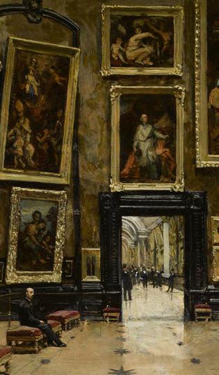 Alexandre Brun, Vue du Salon Carré au Louvre
