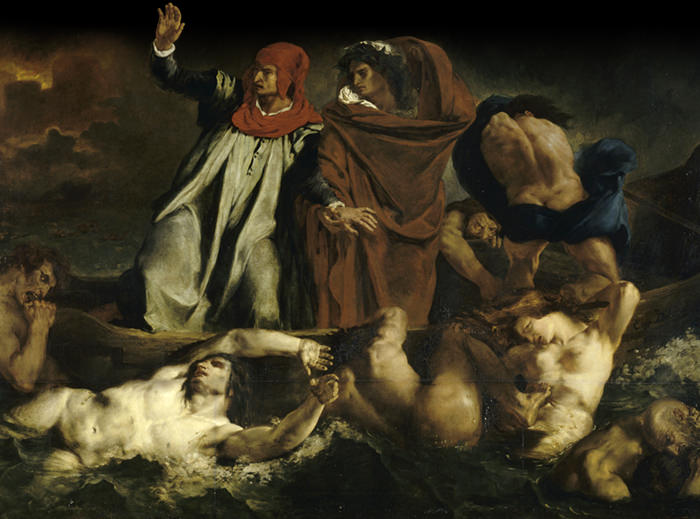 Eugène Delacroix, Dante et Virgile aux enfers © RMN - Grand Palais (Musée du Louvre) / Droits réservés