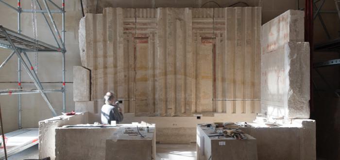 Détail de la chapelle du mastaba d'Akhethétep